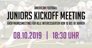 Juniors Kickoff Meeting Reutlingen Eagles 08.10.19 18:30 Uhr Presseraum Stadion an der Kreuzeiche