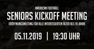 American Football Reutlingen Eagles Kickoff Meeting der Seniors
