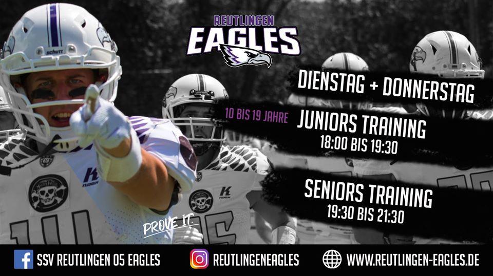 American Fottbal Reutlingen Eagles Trainingszeiten